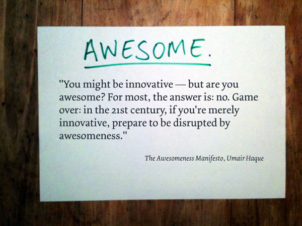 Slide 2: The Awesomeness Manifesto